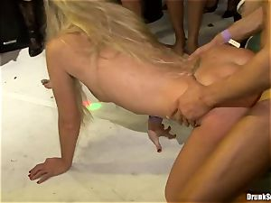Bibi Fox lock fuck hole the key of a steaming men with friends