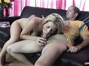 He creamed her raw rosy vagina and she loved it