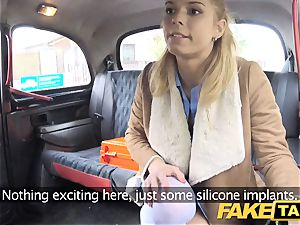 fake cab Nurse in splendid lingerie has car intercourse
