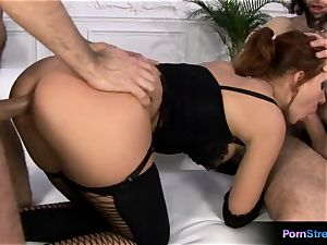 Marina loves gets bum-fucked by Artir and Vagin