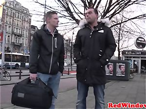 ginormous Amsterdam hooker cockriding tourist