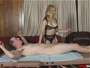 customer Shocks To see The wonderful platinum-blonde massagist