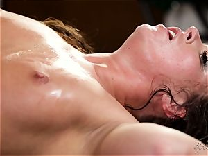 woman on dame with Maddy OReilly and Cadence Lux