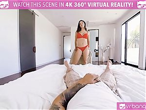 VR pornography - huge-titted Abella Danger audition sofa get wild