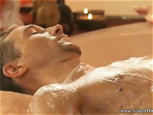 suffering Golden massage cougar blond