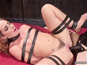 chesty domme rectal ravages corded lezzie