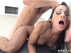 filthy damsel Abigail Mac gets porked in the kitchen