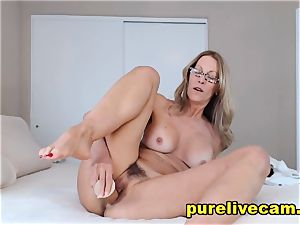 inviting blondie cougar show Off ginormous bosoms And lovinТ Her fuck stick
