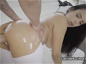giant tit tailoress well-lubed and penetrated firm