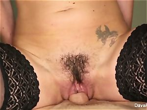 dark-haired ultra-cutie Dava gets torn up point of view style