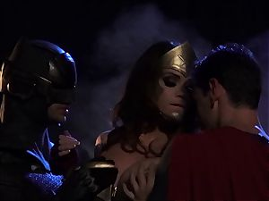 Alison Tyler bangs 2 kinky superheroes