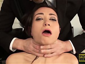 luxurious subslut facefucked and dommed by tormentor Pascal
