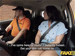 faux Driving college Candi Kayne comes back