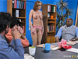 Britney Amber getting gang banged