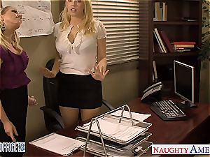 Kagney Linn in a 3 way