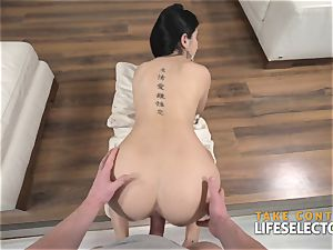 chick Dee - black-haired stunner boinked stiff By large milky knob