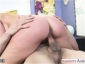 buxomy orgy schoolteacher Veronica Avluv ravaging