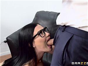 manhood choking brit stunner Jasmine Jae fucked in her rump
