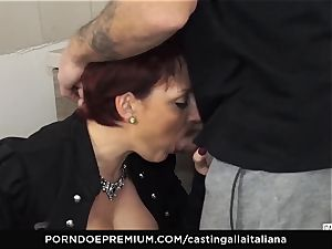 audition ALLA ITALIANA Mature red-haired backside nailed deep