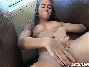 Cassidy Klein plays with bbc in the schoolyard and the schoolbus