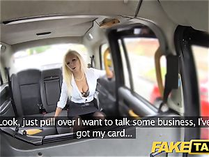 faux taxi hot estate agent gets creampied