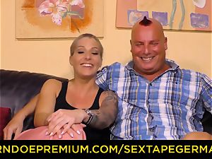 SEXTAPE GERMANY cum on funbags for luscious girl