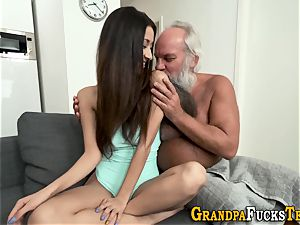 nubile rimmed by old guy