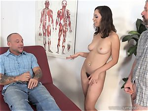 Jade Nile Has Her hubby deepthroat penis and see Her
