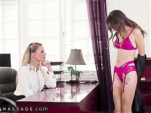 cougar Isabelle Deltore Tests Nuru rubdown on assistant