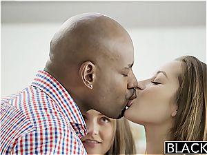 BLACKED gfs Dani Daniels and Allie Haze multiracial three-way