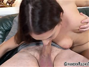 nubile swallows grandpas jism