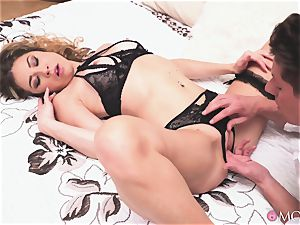 internal cumshot for a mischievous blondie