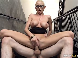 Madison Scott caught nailing in the stairway