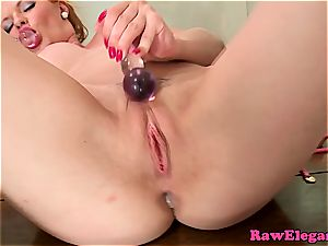 Tarra pleasing both her holes