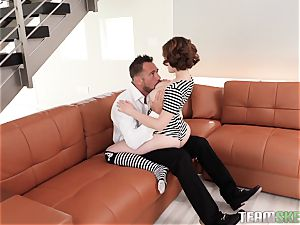 Ginger Aria Skye jammed in her warm moist antsy twat by Johnny