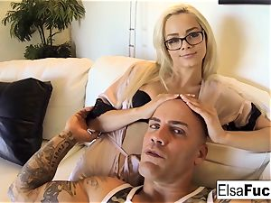point of view smash session with Elsa Jean