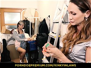 insane INLAWS - Gina Gerson plumbed by milf with wand